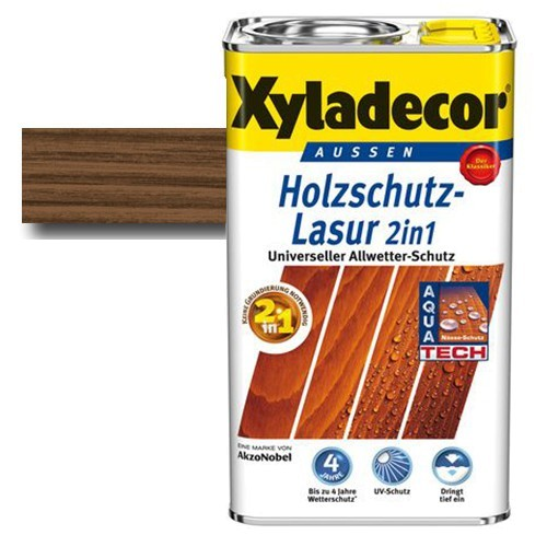 Xyladecor® Holzschutz-Lasur 2 in 1 Nussbaum 5 l