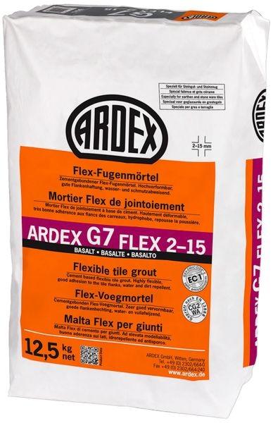 ARDEX G7 FLEX 2-15 Flex-Fugenmörtel 12,5 kg - basalt