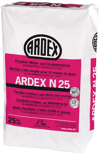 ARDEX N25 flexibler Mittel-und Dickbettmörtel 25 kg