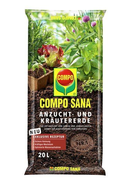 COMPO SANA® Anzucht- und Kräutererde 20 l