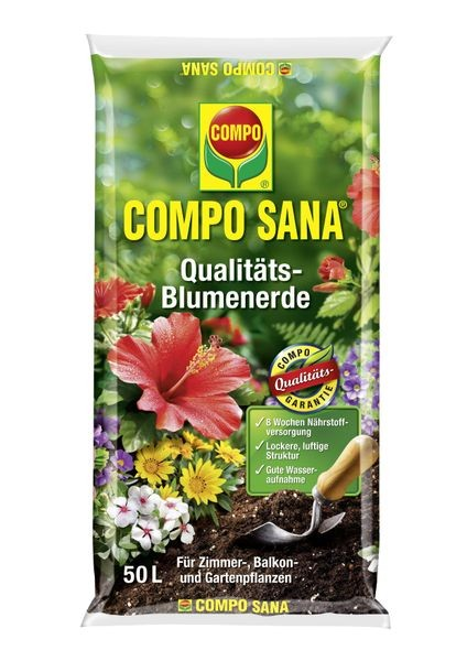 COMPO SANA® Qualitäts Blumenerde 50 l
