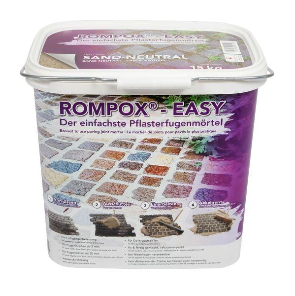 ROMPOX® - EASY 1K Pflasterfugenmörtel 15 kg - Sand-neutral