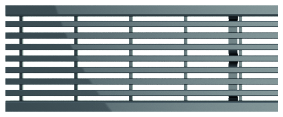 ACO Self® Längsstabrost Edelstahl 500 mm
