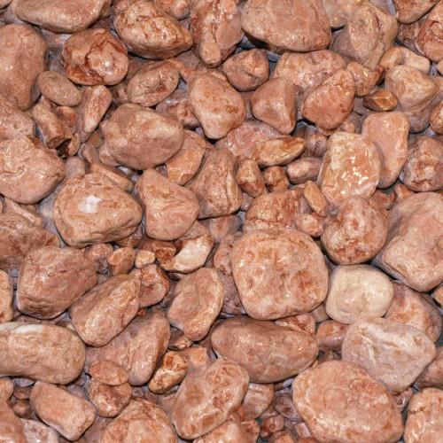 1x 25kg Sack Marmorkies Rosso Verona 15-25 mm Splitt Dekorsplitt Kies