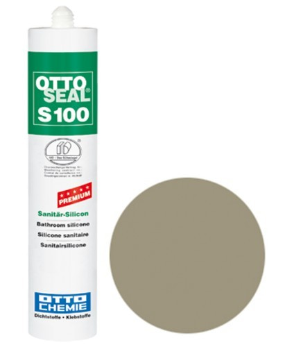 OTTOSEAL® S100 Premium-Sanitär-Silicon 300 ml - Steingrau C79