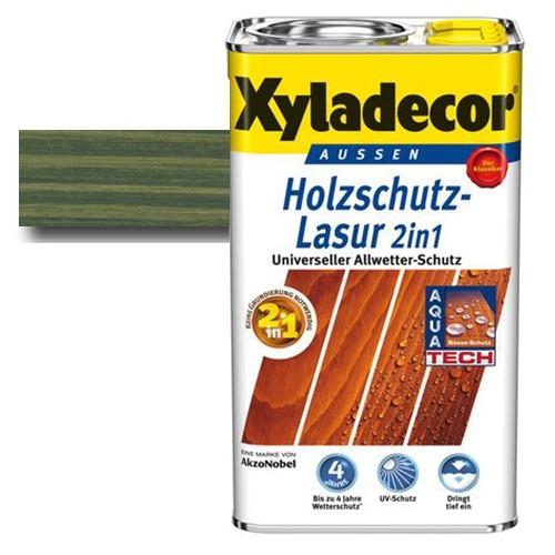 Xyladecor® Holzschutz-Lasur 2 in 1 Tannengrün 2,5 l