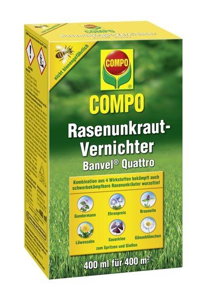 COMPO Rasenunkraut-Vernichter Banvel® Quattro 400 ml