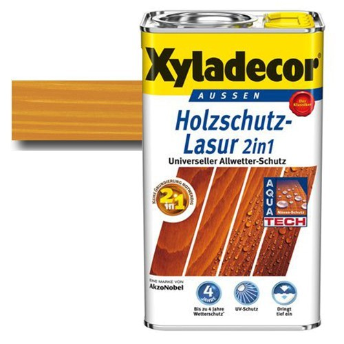 Xyladecor® Holzschutz-Lasur 2 in 1 Walnuss 5 l