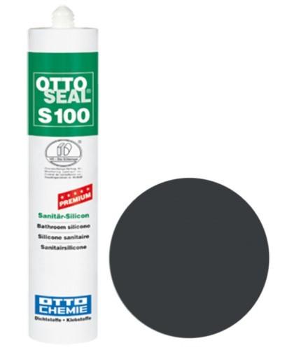 OTTOSEAL® S100 Premium-Sanitär-Silicon 300 ml - Asphaltgrau C808