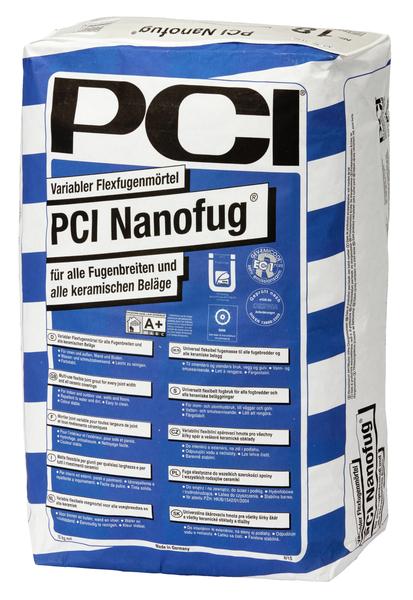 PCI Nanofug® Variabler Flexfugenmörtel 15 kg - 16 Silbergrau