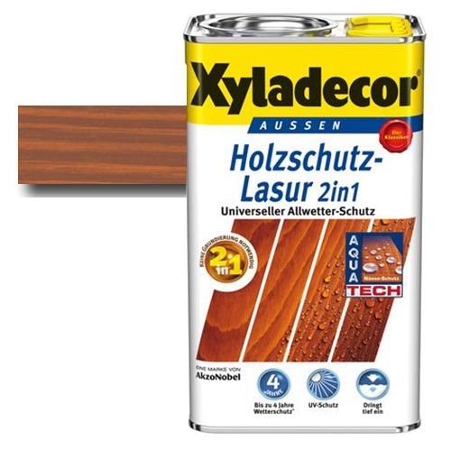 Xyladecor® Holzschutz-Lasur 2 in 1 Teak 2,5 l