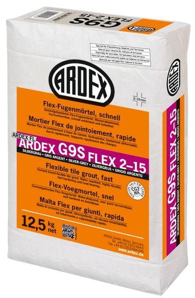 ARDEX G9S Flex-Fugenmörtel 2-15 mm 12,5 kg - silbergrau