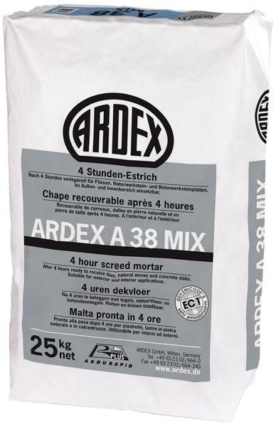 ARDEX A38 MIX 4 Stunden-Estrich 25 kg