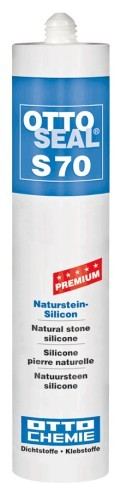 OTTOSEAL® S70 Premium-Naturstein-Silicon 310 ml - Matt-Schwarz C6114