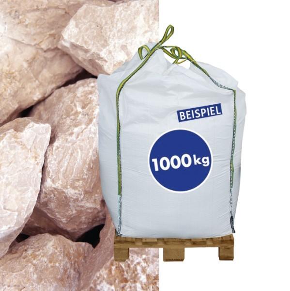 1000kg BigBag Gabionen Steine Marmorkies Bianco Italia 70-120 mm