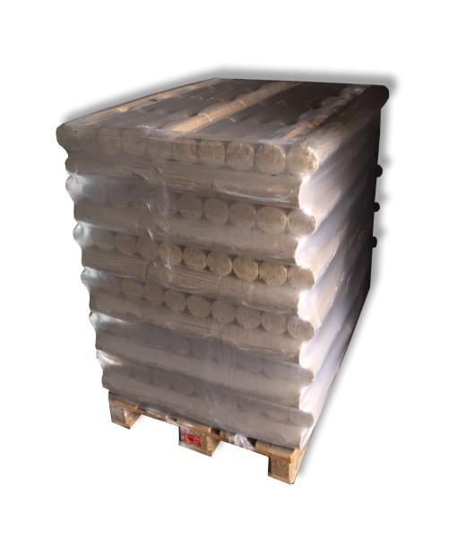 Buchenholz-Briketts reine Buche rund ohne Loch 96 x 10 kg volle Palette 960 kg