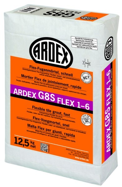 ARDEX G8S FLEX-Fugenmörtel 1-6 - 12,5 kg anthrazit