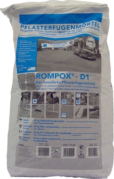 ROMPOX® - D1 2K-Epoxidharz Pflasterfugenmörtel 27,5 kg - steingrau