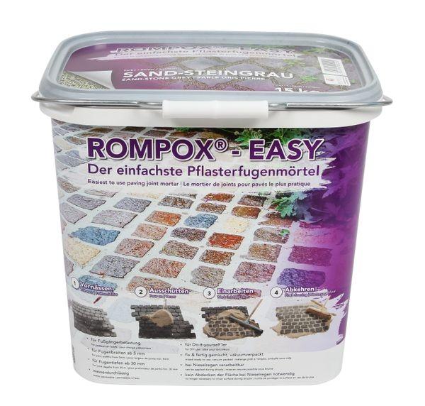 ROMPOX® - EASY 1K Pflasterfugenmörtel 15 kg - Sand-Steingrau