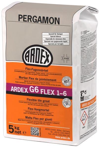 ARDEX G6 Flex-Fugenmörtel 1-6 mm 5 kg - pergamon