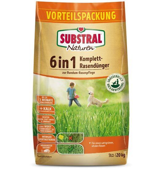 SUBSTRAL® NATUREN® 6 in 1 Komplett-Rasendünger 20 kg