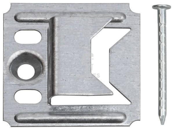KIESUNDCO Profilholzkrallen mit Nägel 4 mm Stahl verzinkt  250 Stück