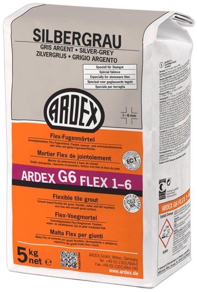 ARDEX G6 Flex-Fugenmörtel 1-6 mm 5 kg - silbergrau