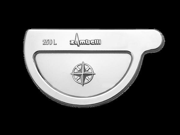 Zambelli VM Blank-Zinc® Rinnenboden halbrund links 250 mm