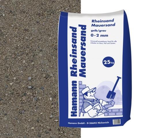 Rheinsand, Mauersand 25 kg Sack