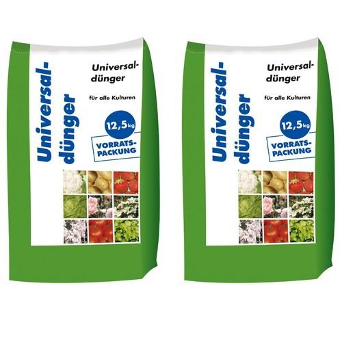 25kg Universaldünger NPK 8-4-5 Gartendünger Volldünger Blumen Obst (2x12,5kg)