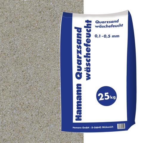 Quarzsand wäschefeucht 25 kg Sack