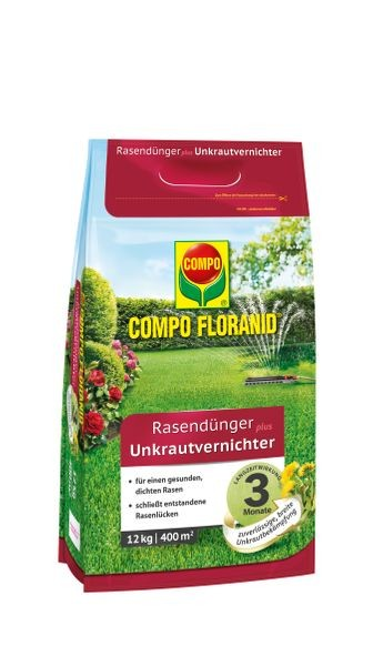 COMPO FLORANID® Rasendünger plus Unkrautvernichter 12 kg