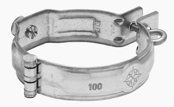 Zambelli Meister-Schelle mit Gewindemuffe M10 verzinkt DN 100