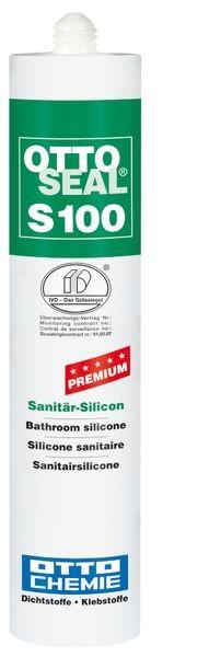 OTTOSEAL® S100 Premium-Sanitär-Silicon 300 ml - Silbergrau Nr.17 C910