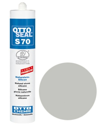 OTTOSEAL® S70 Premium-Naturstein-Silicon 310 ml - Sanitärgrau C18