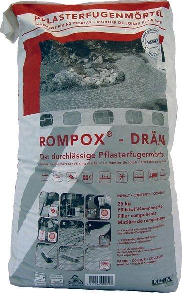 ROMPOX® - DRÄN 2K-Epoxidharz Pflasterfugenmörtel 26,8 kg - steingrau