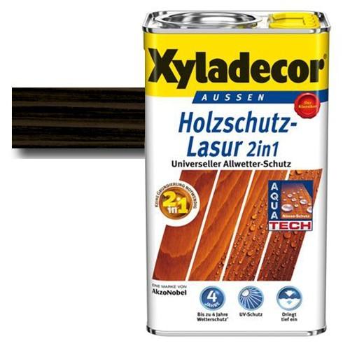 Xyladecor® Holzschutz-Lasur 2 in 1 Ebenholz 2,5 l