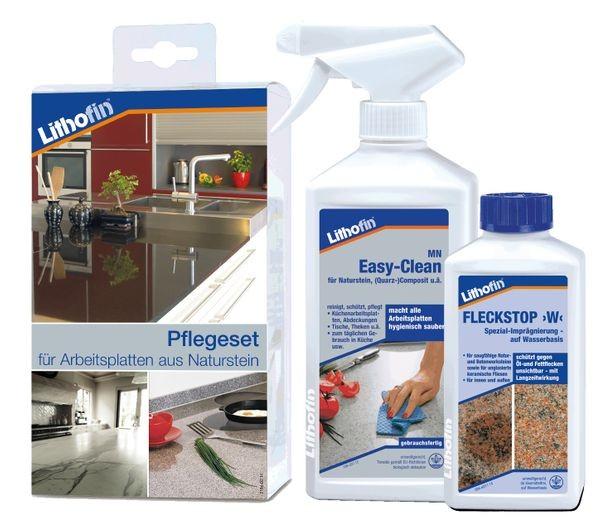 Lithofin® Pflegeset -compact-  für alle Arbeitsplatten aus Naturstein 750 ml