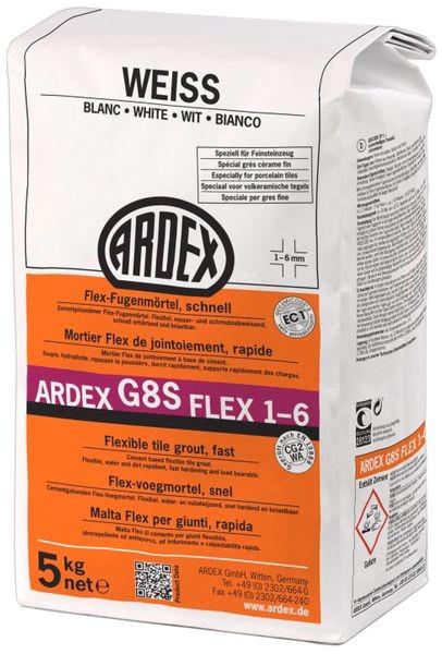 ARDEX G8S FLEX-Fugenmörtel 1-6 - 5 kg weiss
