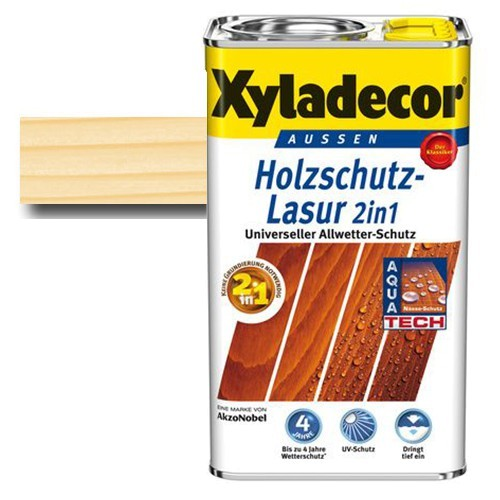 Xyladecor® Holzschutz-Lasur 2 in 1 Farblos 2,5 l