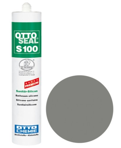 OTTOSEAL® S100 Premium-Sanitär-Silicon 300 ml - Platingrau C52