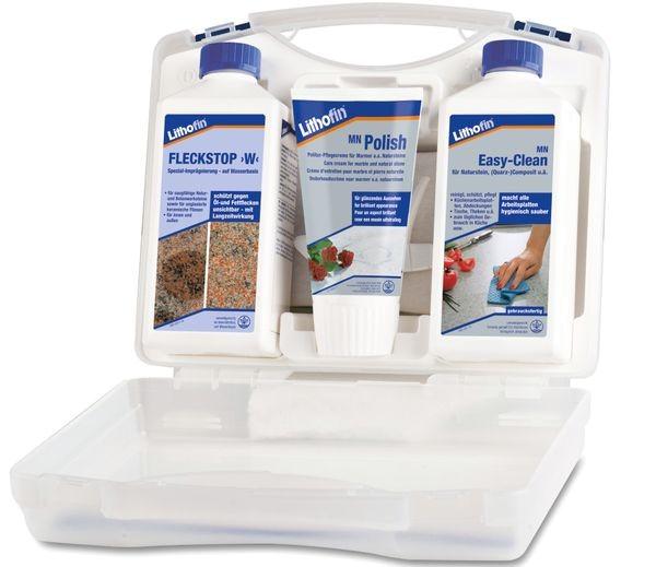 Lithofin® Pflegeset für Arbeitsplatten aus polierten Naturstein