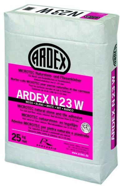 Ardex N23W MICROTEC Natursteinkleber 25kg weiss