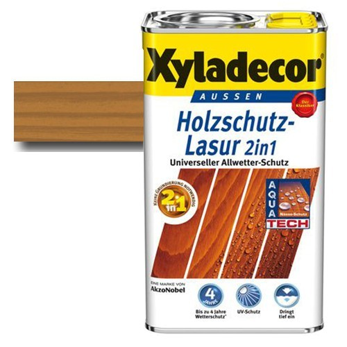 Xyladecor® Holzschutz-Lasur 2 in 1 Eiche 2,5 l