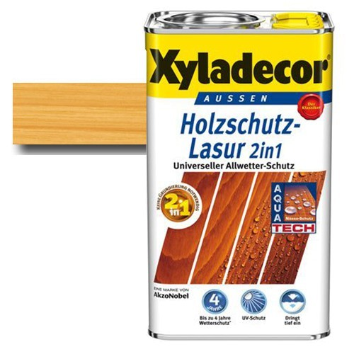Xyladecor® Holzschutz-Lasur 2 in 1 Kiefer 5 l