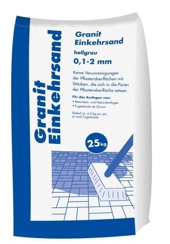 25kg Granit Einkehrsand hellgrau 0,1 - 2,0 mm