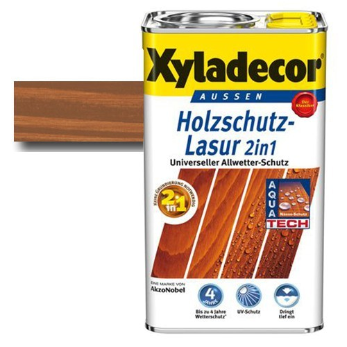 Xyladecor® Holzschutz-Lasur 2 in 1 Kastanie 5 l