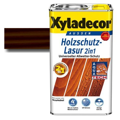 Xyladecor® Holzschutz-Lasur 2 in 1 Palisander 0,75 l