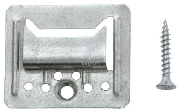 KIESUNDCO Profilholzkrallen inklusive Schrauben 3 mm Stahl verzinkt  100 Stück