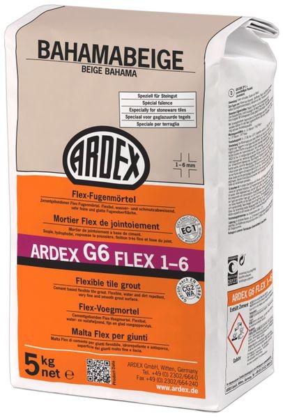 ARDEX G6 Flex-Fugenmörtel 1-6 mm 5 kg - bahamabeige